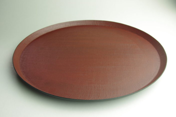 1063 布目丸折敷(拭漆)Ø33.3×2.2
