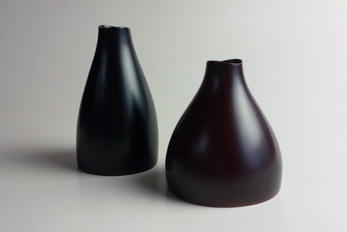 uneri64(花入)Ø9.7×10.8 / uneri65(花入)Ø7.9×13.2